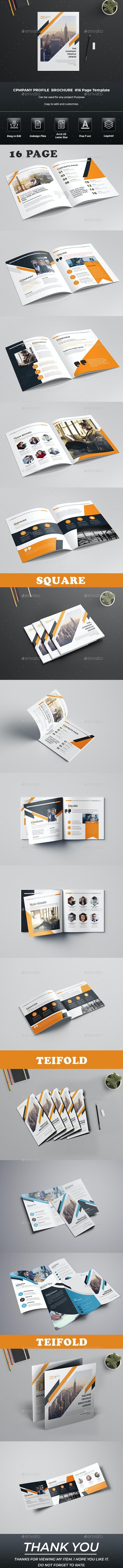 Company Profile Brochure Bundle Template - Print Templates
