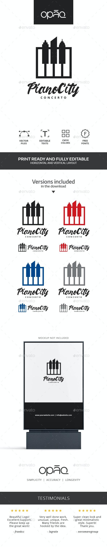 Piano City Concert Logo - Symbols Logo Templates