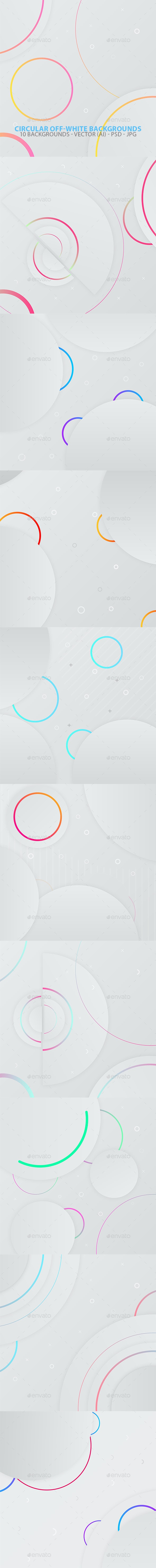Circular Off-white Backgrounds - Abstract Backgrounds
