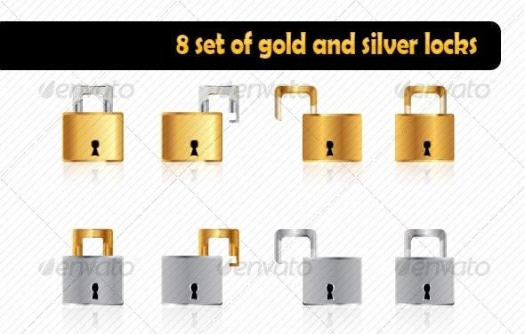 Gold and silver lock - Miscellaneous Conceptual