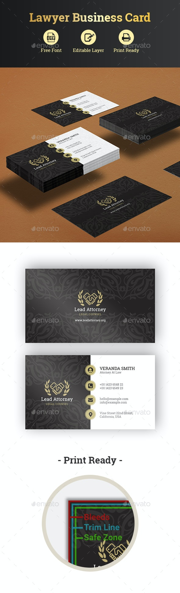Lawyer Business Card - Corporate Business Cards
