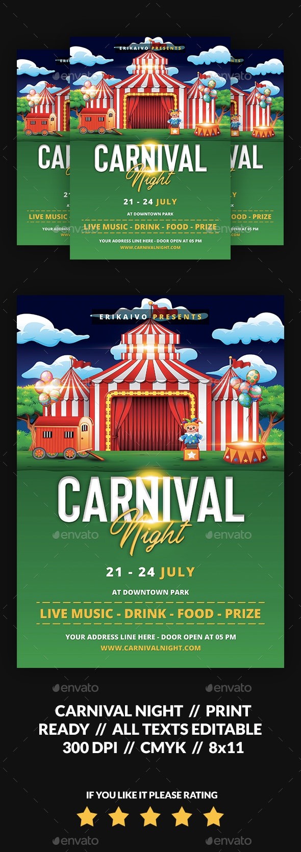 Carnival Night Flyer - Events Flyers