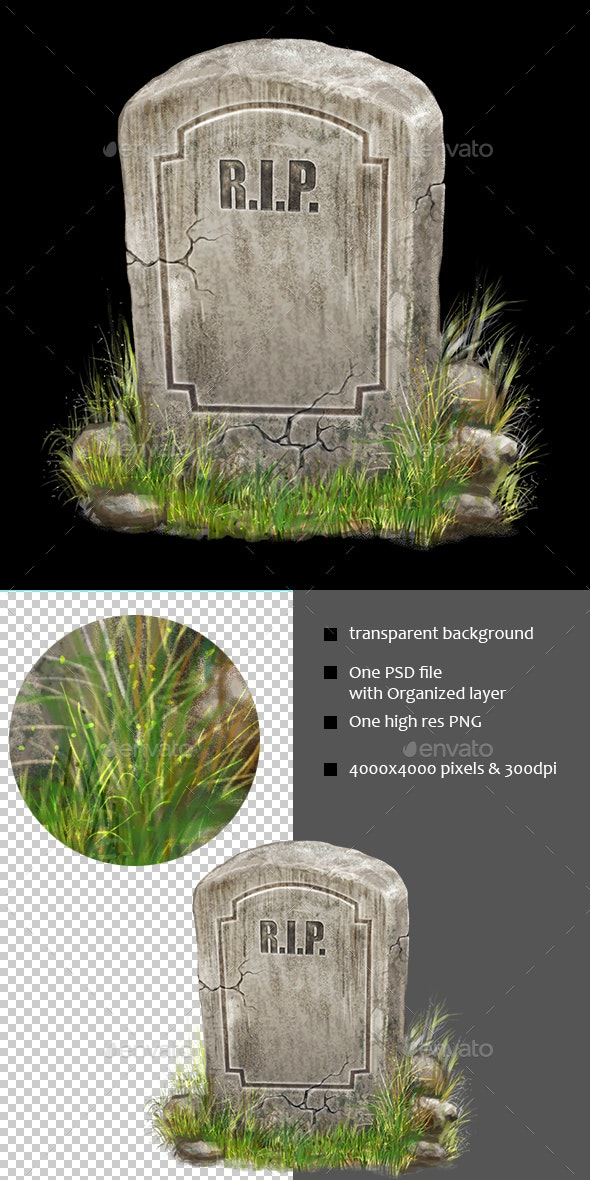 Gravestone - Objects Illustrations