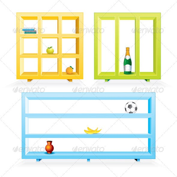 Colored Shelves