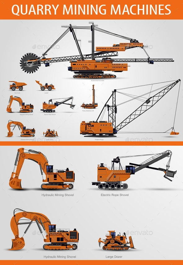Quarry Mining Machines - Man-made Objects Objects