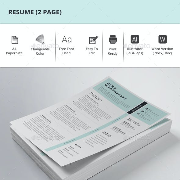 Resume (2 Page)