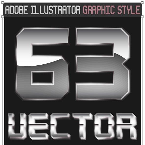 Vector Metal Graphic Styles