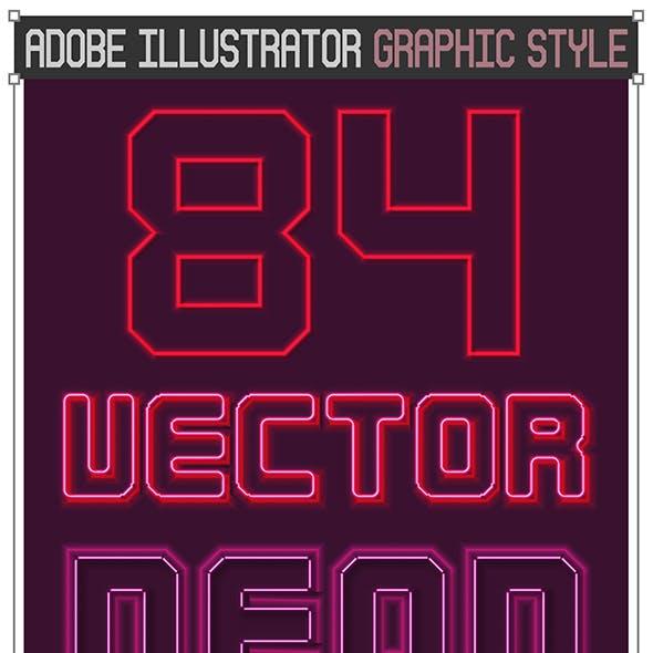 Vector Neon Graphic Styles