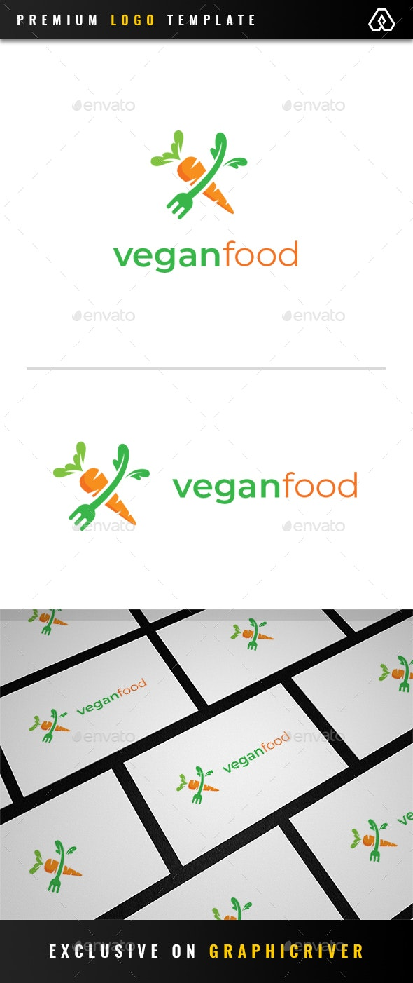 Carrot Vegan Food Logo - Food Logo Templates