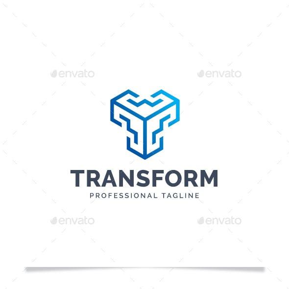 Letter T - Transform Logo
