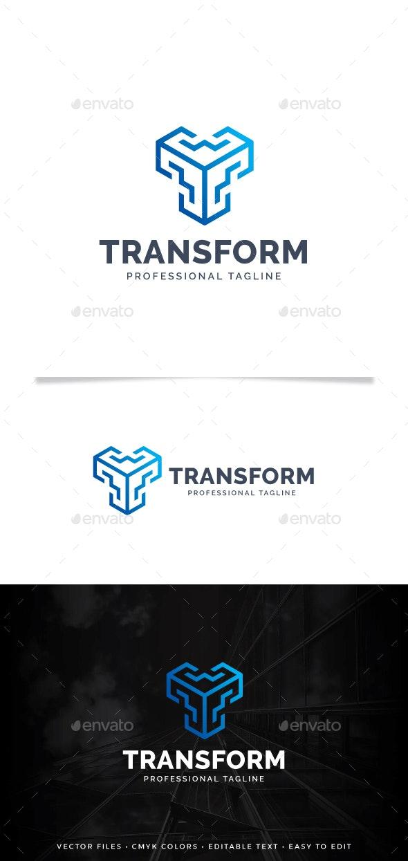 Letter T - Transform Logo - Letters Logo Templates