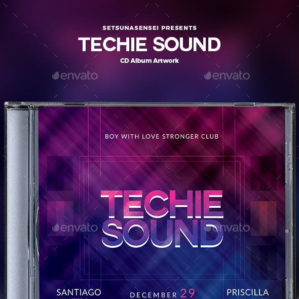 Techie Sound CD Album Artwork