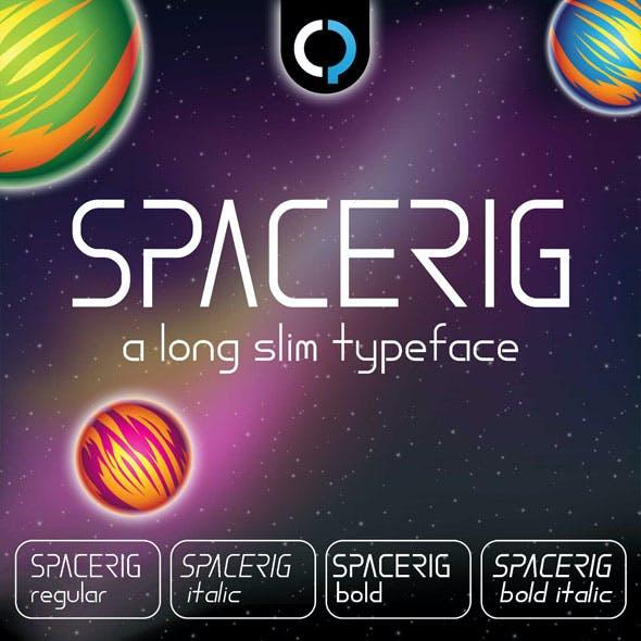 SpaceRig Futuristic Font