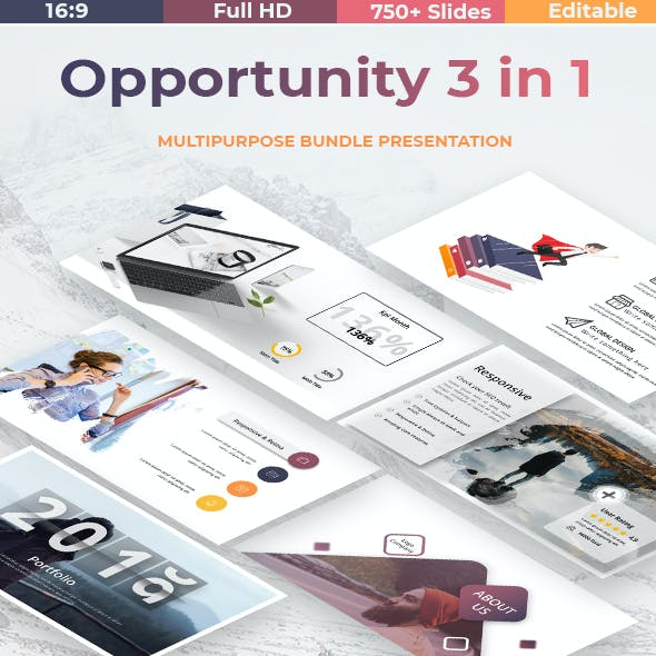 Opportunity 3 in 1 - Business Bundle Powerpoint Template BIG UPDDATE V2.0