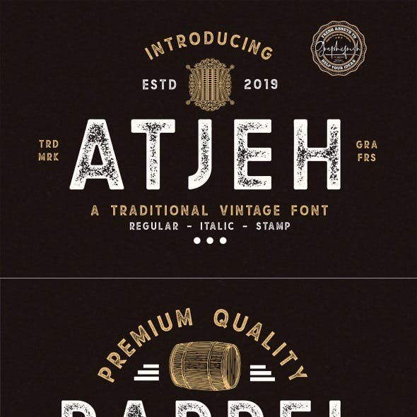 Atjeh – A Traditional Vintage Font
