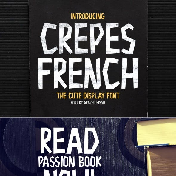 Crepes – The Cute Display Font