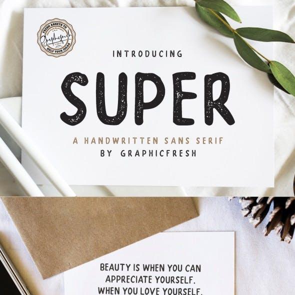 SUPER – A Handwritten Sans Serif