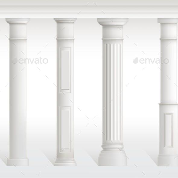 Antique Columns Set