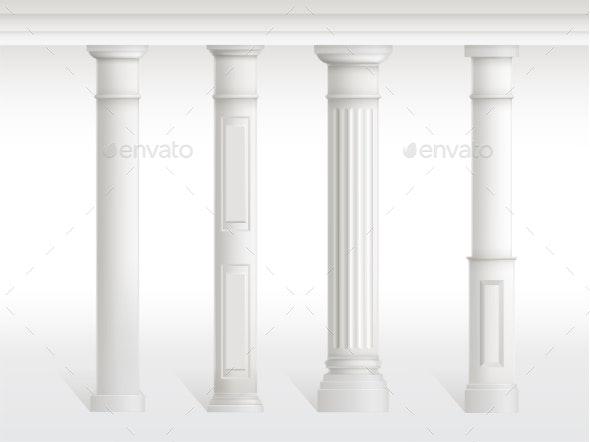 Antique Columns Set - Buildings Objects