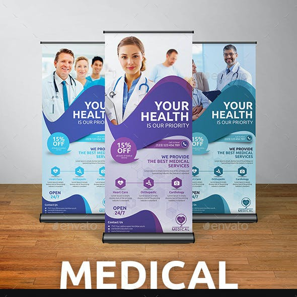 Medical Roll-Up Banner Template