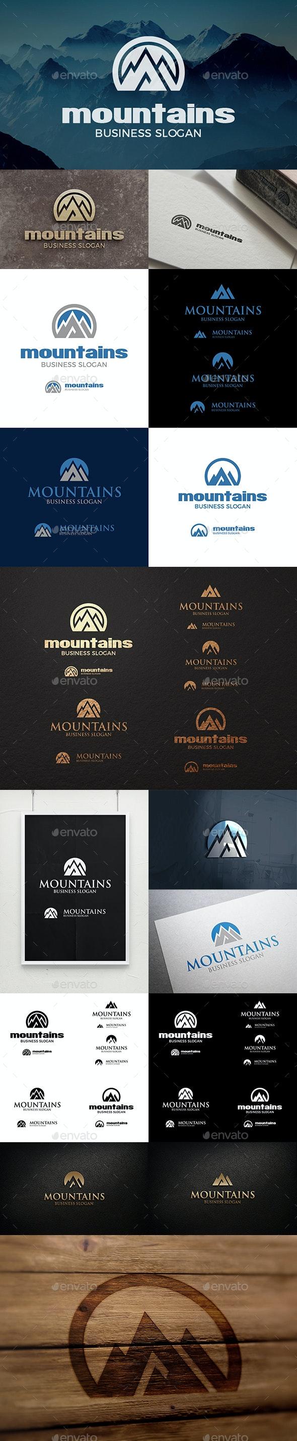 Mountain Logo - Mountains Peak Logo Templates - Nature Logo Templates