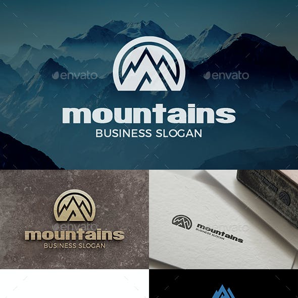 Mountain Logo - Mountains Peak Logo Templates