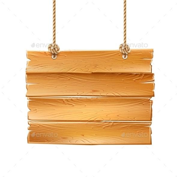 Vector Wooden Signage - Miscellaneous Vectors