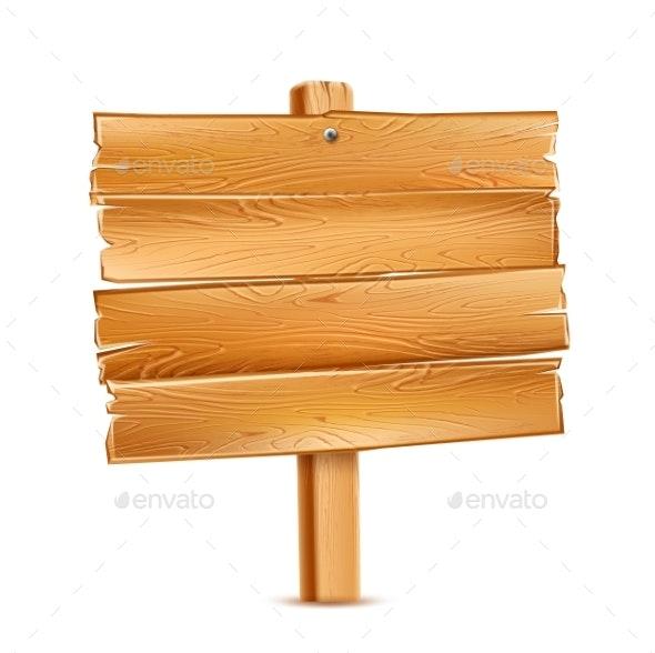 Vector Wooden Signboard - Miscellaneous Vectors