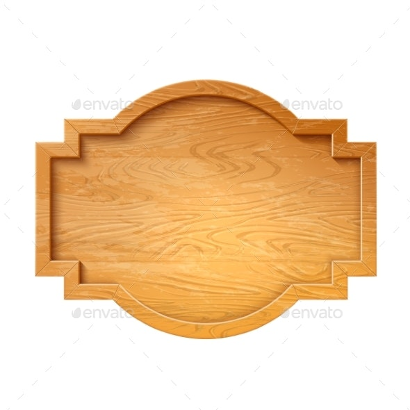 Vector Wooden Signage Signboard - Miscellaneous Vectors