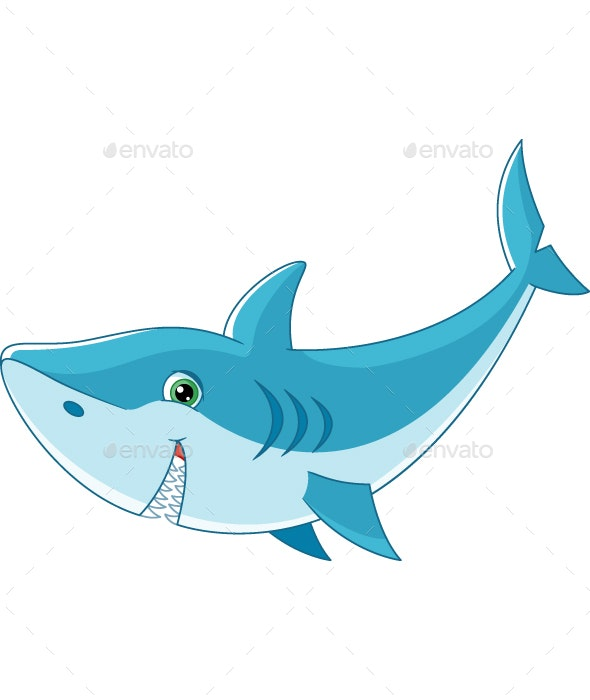 Cartoon Shark - Animals Characters