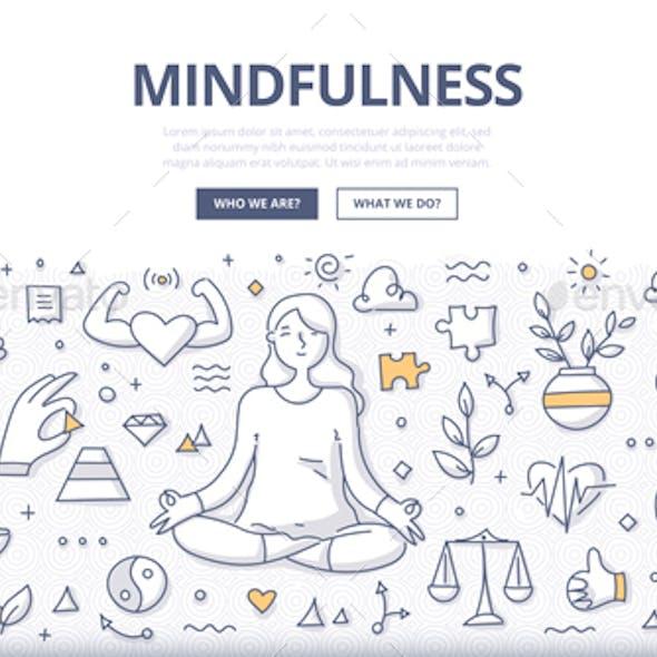 Mindfulness Doodle Concept