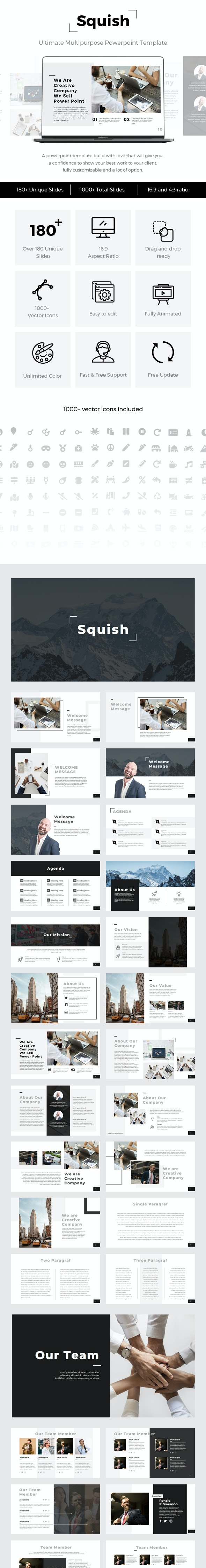 Squish - Multipurpose PowerPoint Template - Business PowerPoint Templates