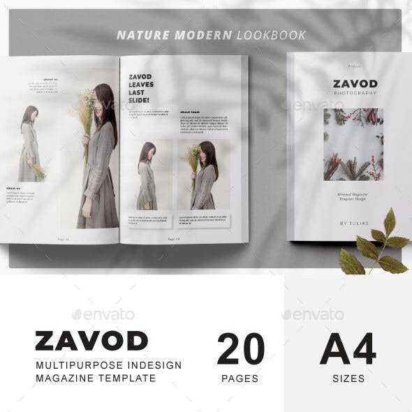 Zavod Lookbook & Catalog Template