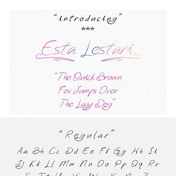 Esta Lestari - Handwriting Font