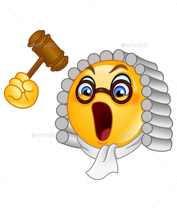 Judge Emoticon - People Characters