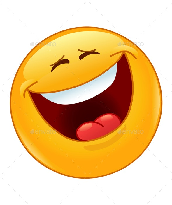 Laughing Out Loud with Closed Eyes Emoticon - People Characters