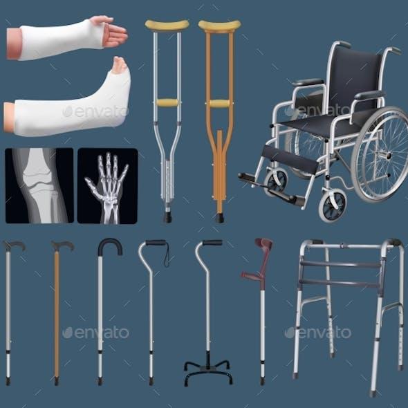 Set of Objects of Traumatology Medicine