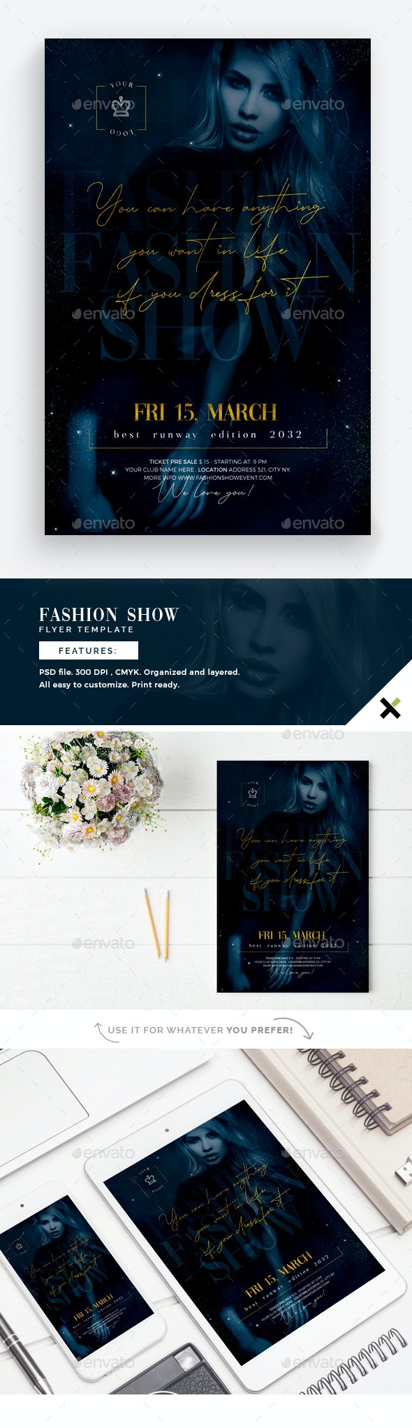 Fashion Show Flyer Template - Flyers Print Templates
