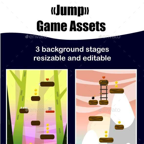 Jump Game Assets Background
