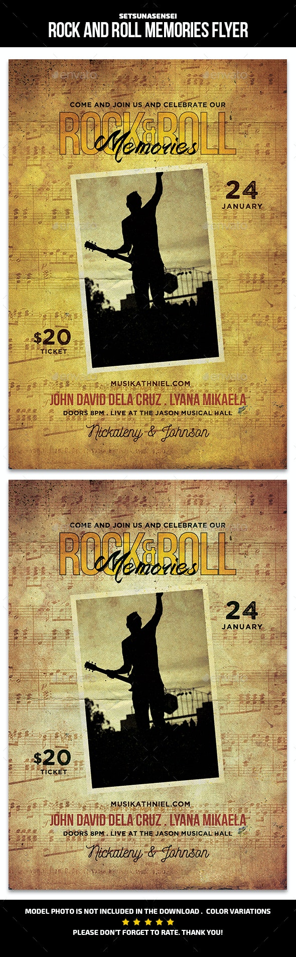 Rock and Roll Memories Flyer - Events Flyers