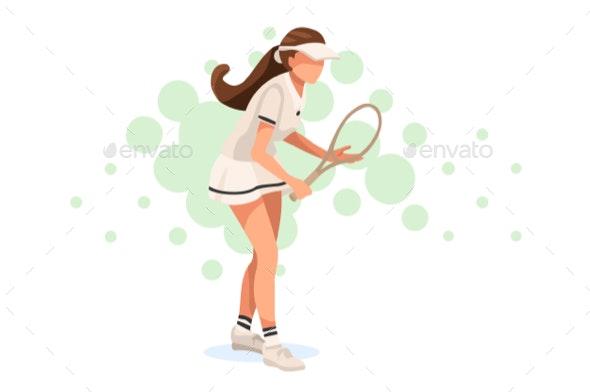Tennis Match Pose - Sports/Activity Conceptual