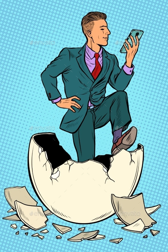 The Businessman Was Born From an Egg - Concepts Business