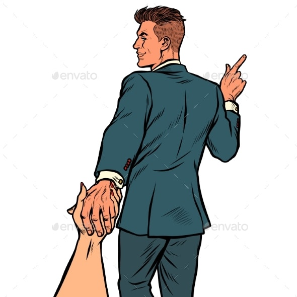 Follow Me Wedding Groom Man Businessman - Concepts Business