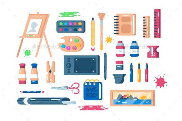 Art Supplies Set - Miscellaneous Vectors