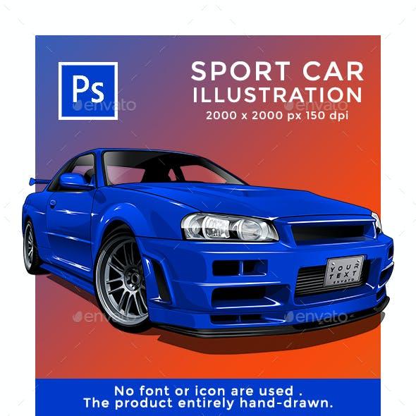 GTR Sport Car Illustration