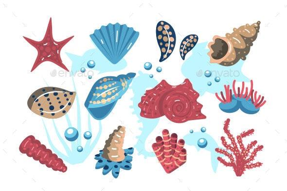 Underwater World Set - Animals Characters