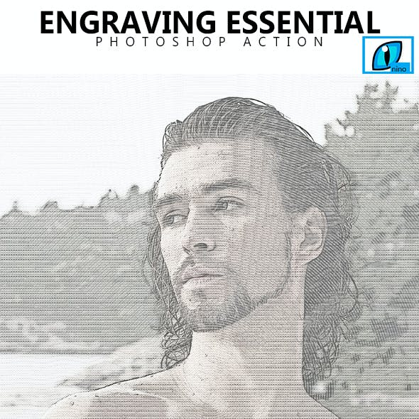 Engraving Essential  Photoshop Action