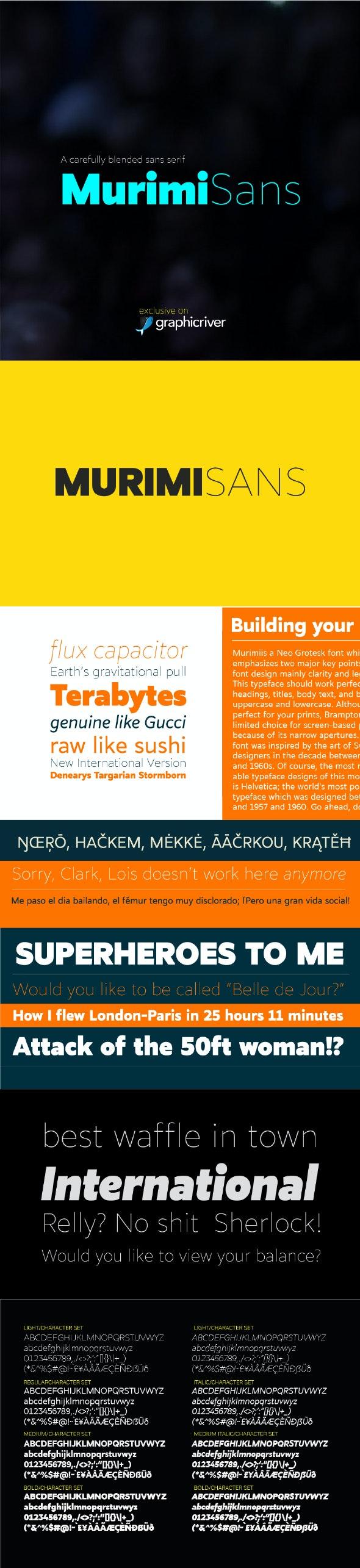 Murimi Sans Font - Miscellaneous Sans-Serif