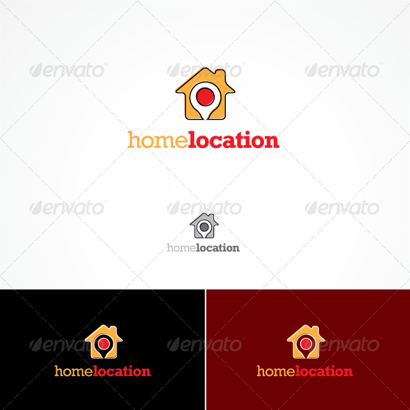 Home Location Logo - Buildings Logo Templates