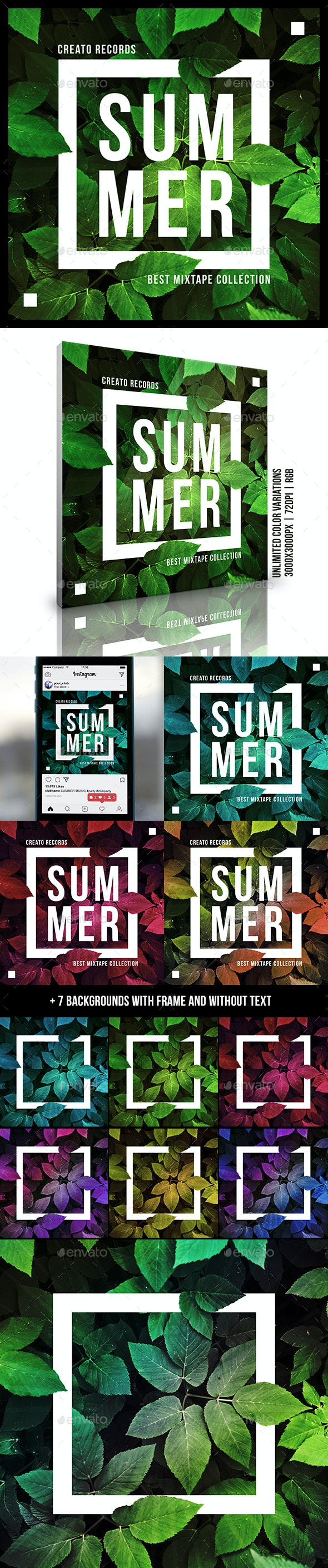 Summer Music Album Cover Artwork Template - Miscellaneous Social Media